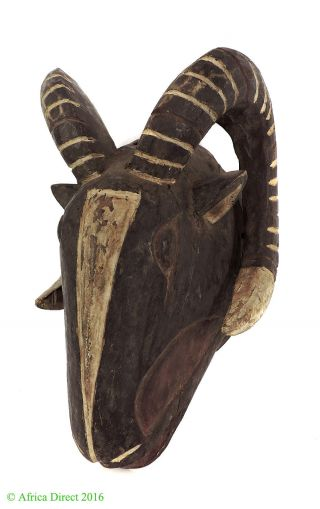 Bobo Mask Ram With Horns Burkina Faso African Art Was $145.  00 photo