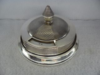 Art Deco Sterling Solid Silver Rotating Match Dispenser,  Birmingham 1928 photo