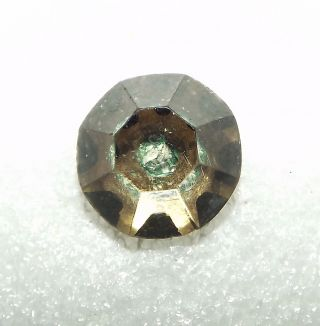 Old Beveled Glass Green Center Design Kaleidoscope Button 2949 photo