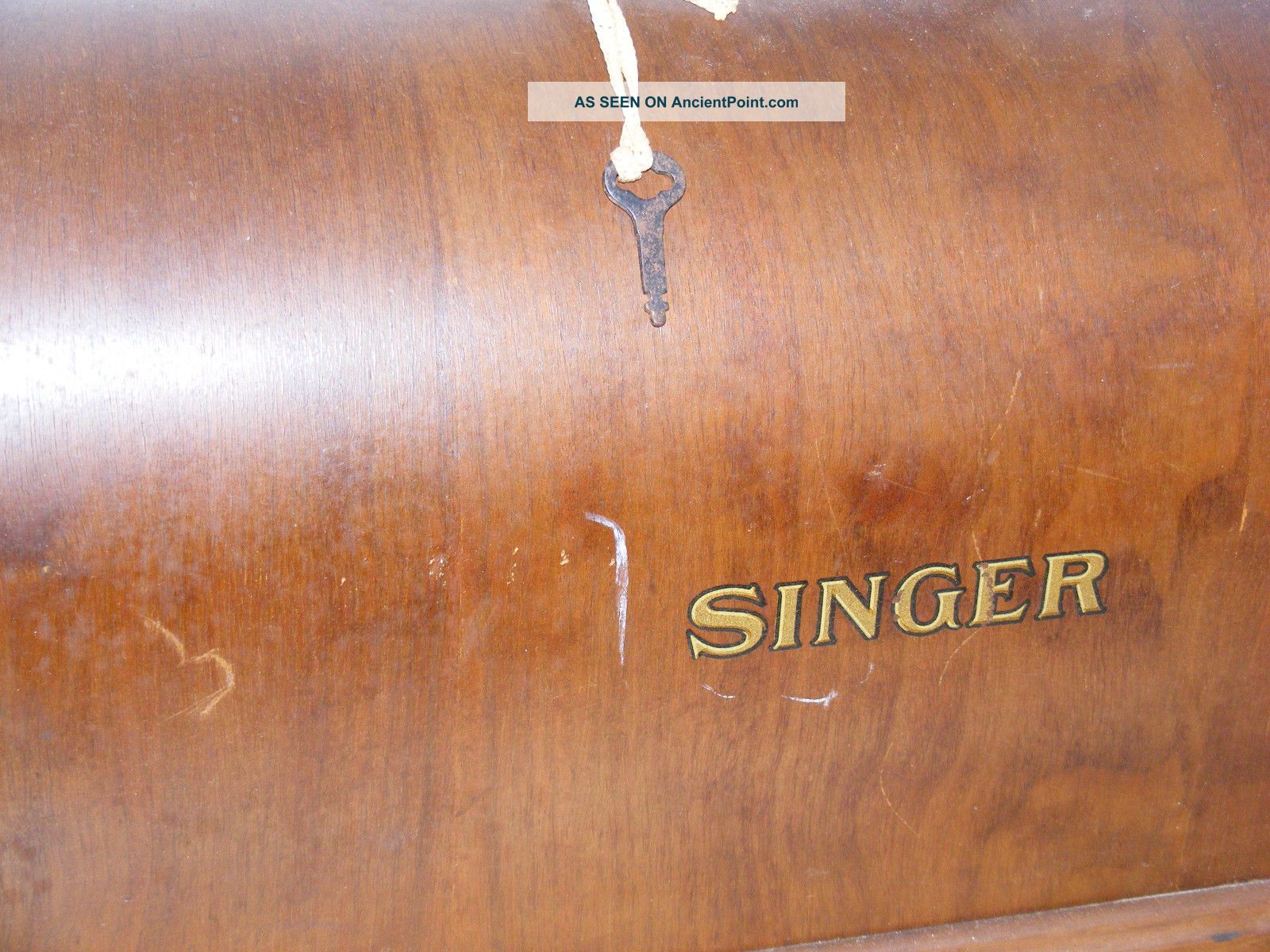 Antique Singer Sewing Machine Bentwood Top Only Dome Case With Key 1928 Sewing Machines photo
