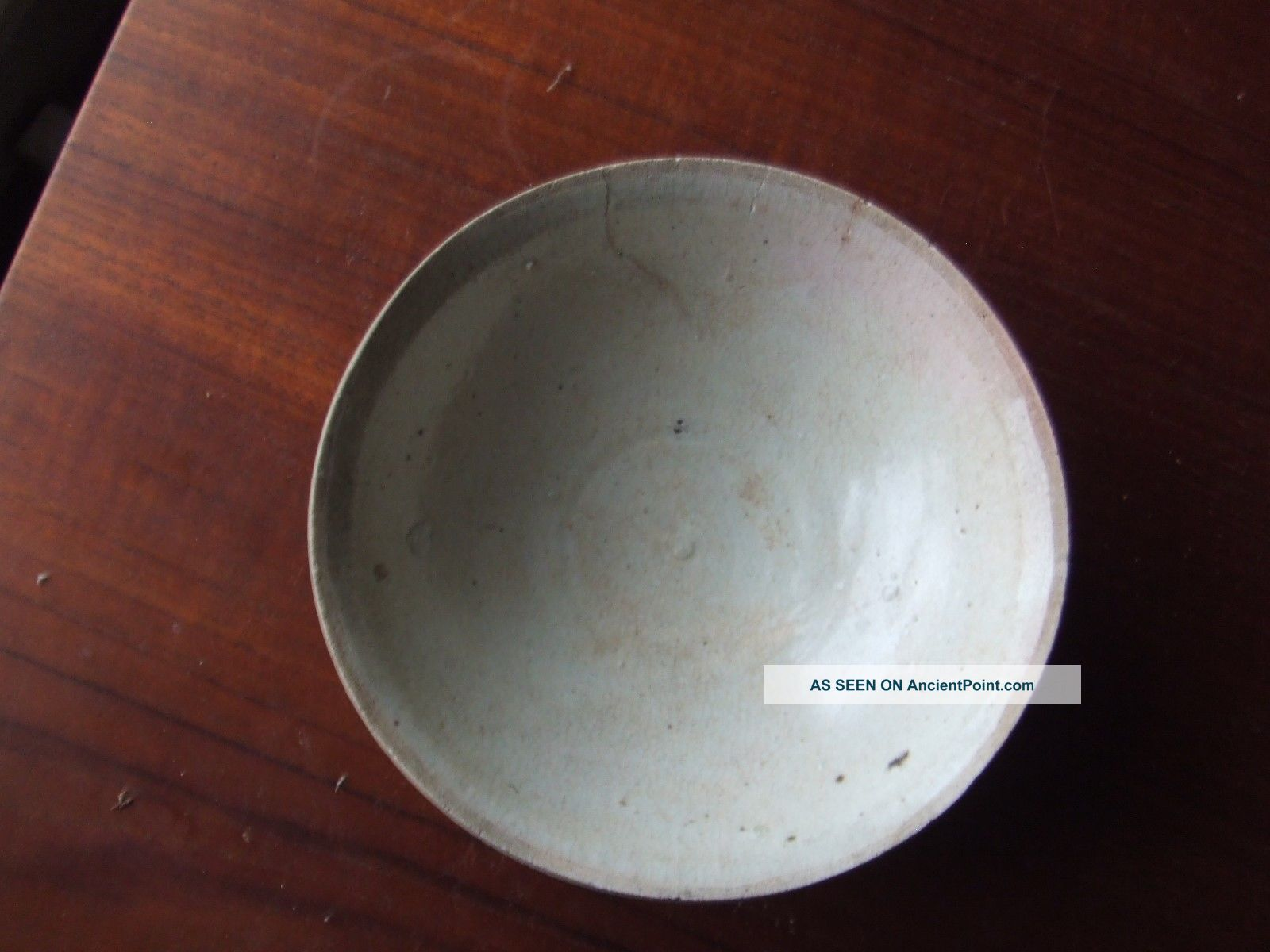 China.  Sung Dynasty.  969 - 1280 Ad.  Celedon Glazed Pottery Bowl,  Repaired. Chinese photo