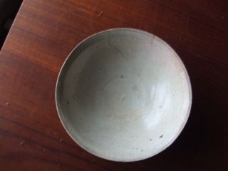 China.  Sung Dynasty.  969 - 1280 Ad.  Celedon Glazed Pottery Bowl,  Repaired. photo