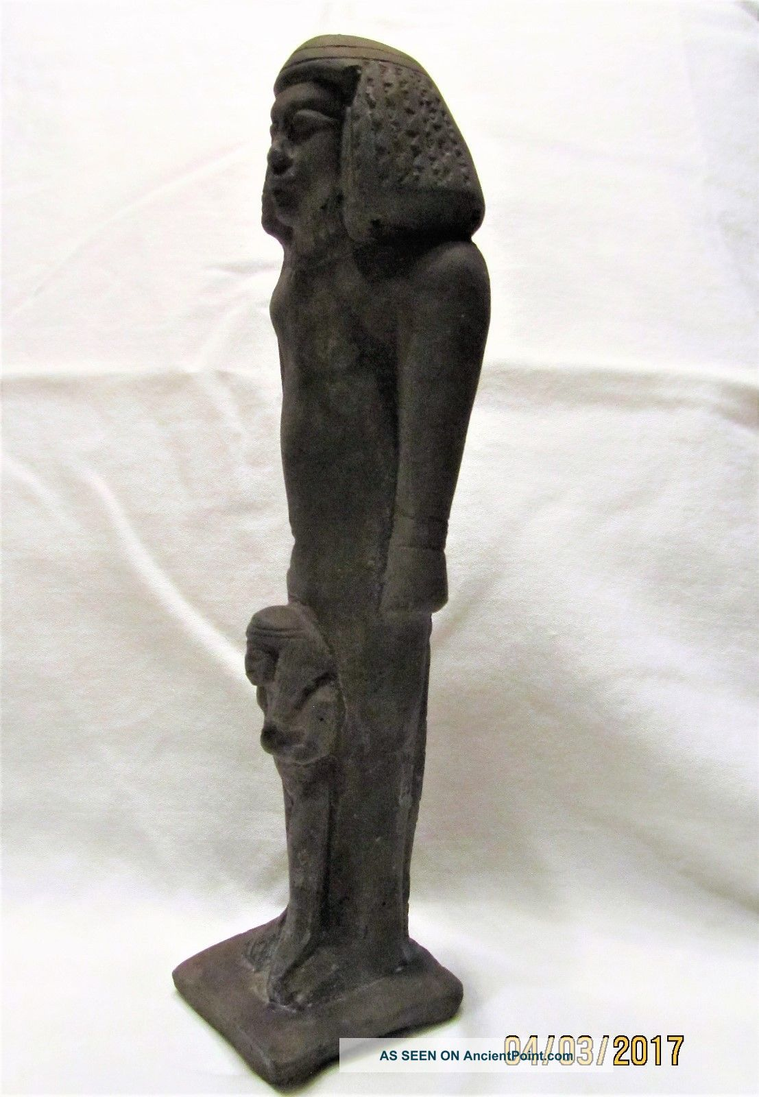 Ancient Egyptian Artifact Statue Isis With Child Horus Egyptian photo