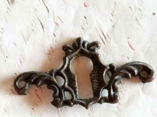 Antique Victorian Brass Keyhole Escutcheon Hardware Antique Dresser Keyhole photo