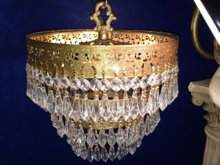 Fine Antique Nyc Art Deco 3 Tier Wedding Cake Crystal Chandelier C.  1920 - 30 photo