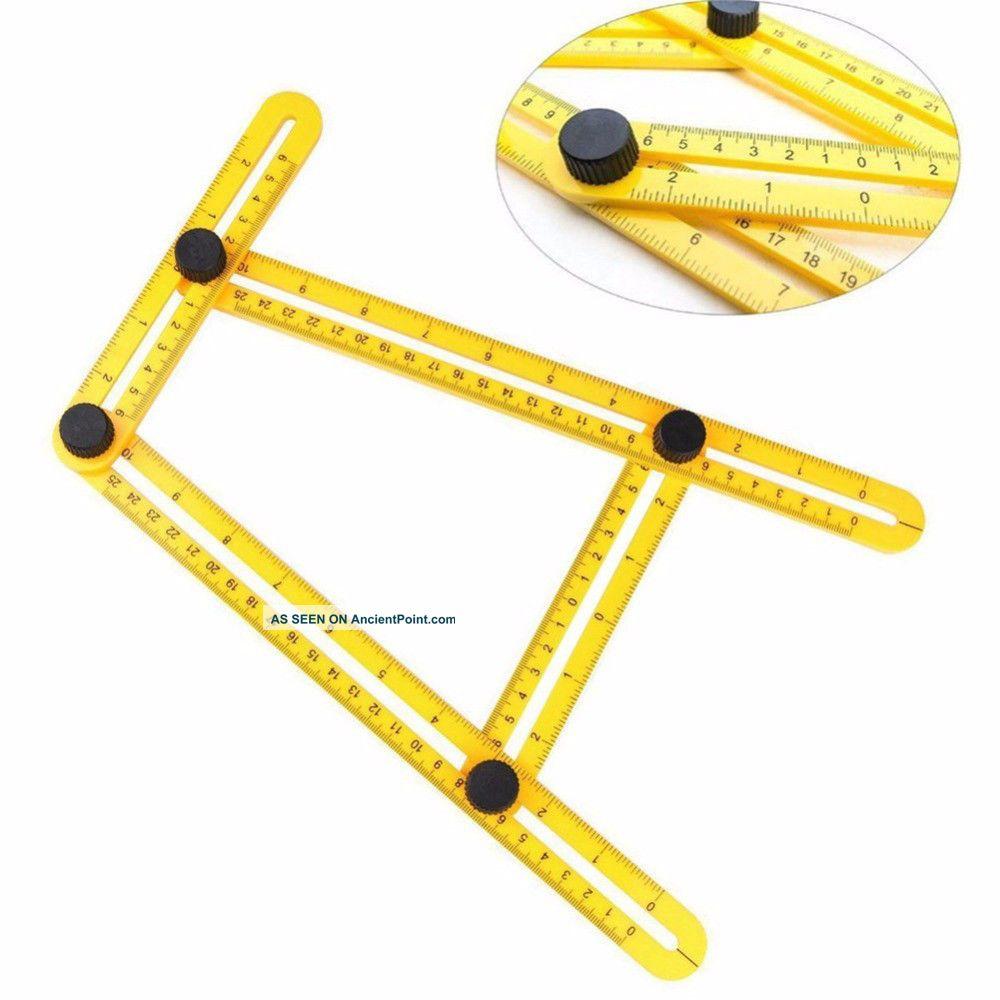 Multifunctional Angle Model Angle Ruler Plastic Measuring Tool Adjustable Tools, Scissors & Measures photo