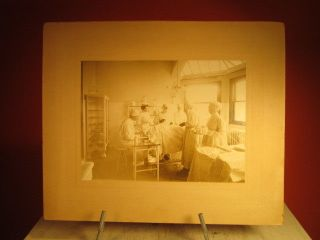 Early Photo Operating Room W Doctors Nurses Patient & Anesthesiologist Mk Frshnr photo