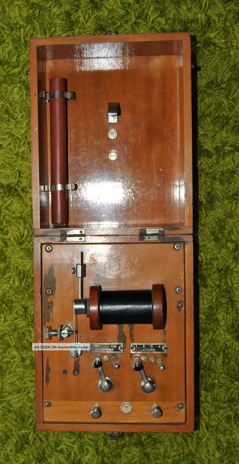 Antique Schall & Son Of London Shock Machine In Hinged Wood Case Vgc Other Medical Antiques photo
