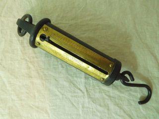 Universal Hanging Brass & Iron 200 Lb.  Ice Scale photo