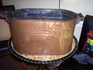 Antique Copper Wash Tub photo