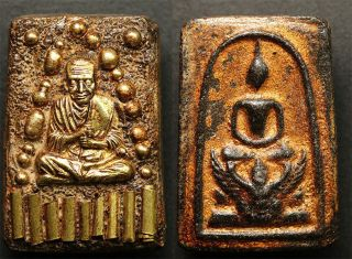 Phra Somdej Relics Lp Toh 9 Takrut Wat Phra Kaew Rare Thai Amulet Pendants 1 photo