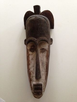 Gabon: Large Old & Tribal African Mask From The Fang - 62 Cm. photo