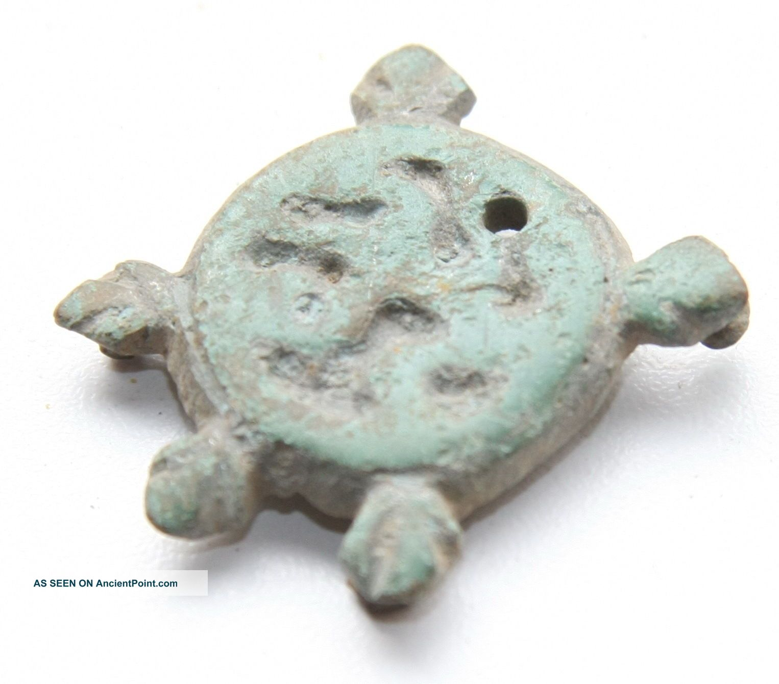 Ancient Old Zoomorphic Bronze Ornament Viking photo