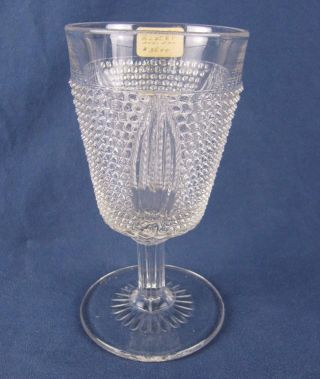 Early American Pressed Glass Popcorn Goblet - 6