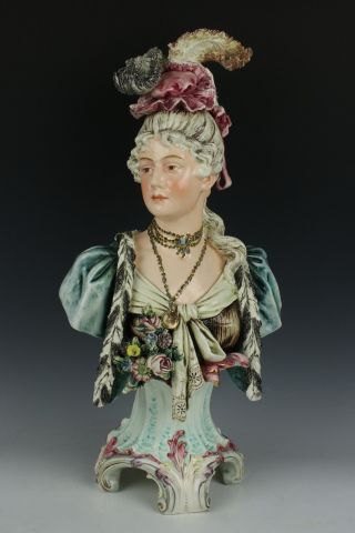 Antique Austrian Majolica Figurine