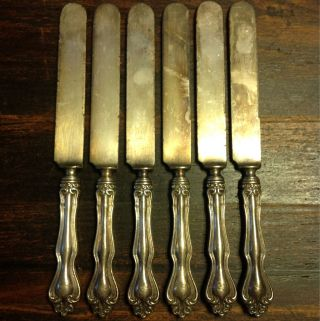 6x Sterling Silver Rw & S Wallace Hampton 9 3/4