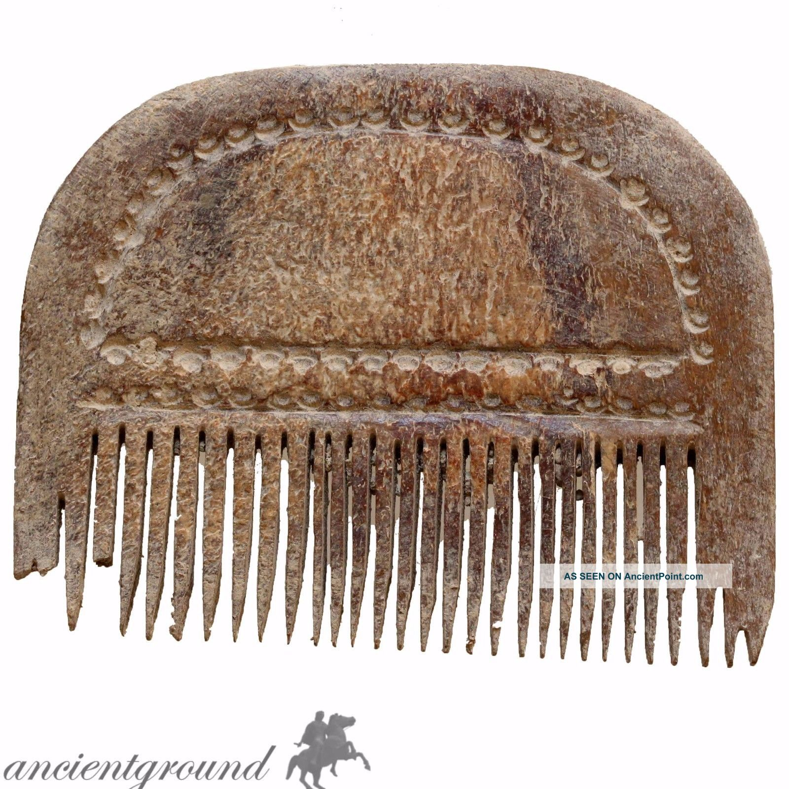 Intact,  Hand Made Carved Post Medieval Mammoth B0ne Comb Roman photo