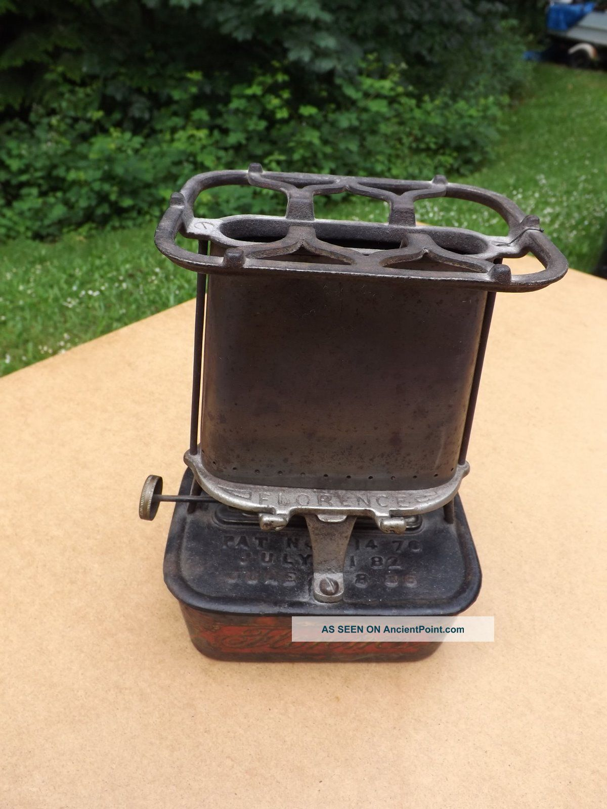 Antique Florence Lamp Stove Cast Iron Kerosene Heater,  Lamp And Stove From 1800s Stoves photo