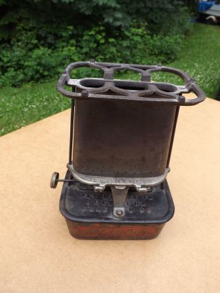 Antique Florence Lamp Stove Cast Iron Kerosene Heater,  Lamp And Stove From 1800s photo