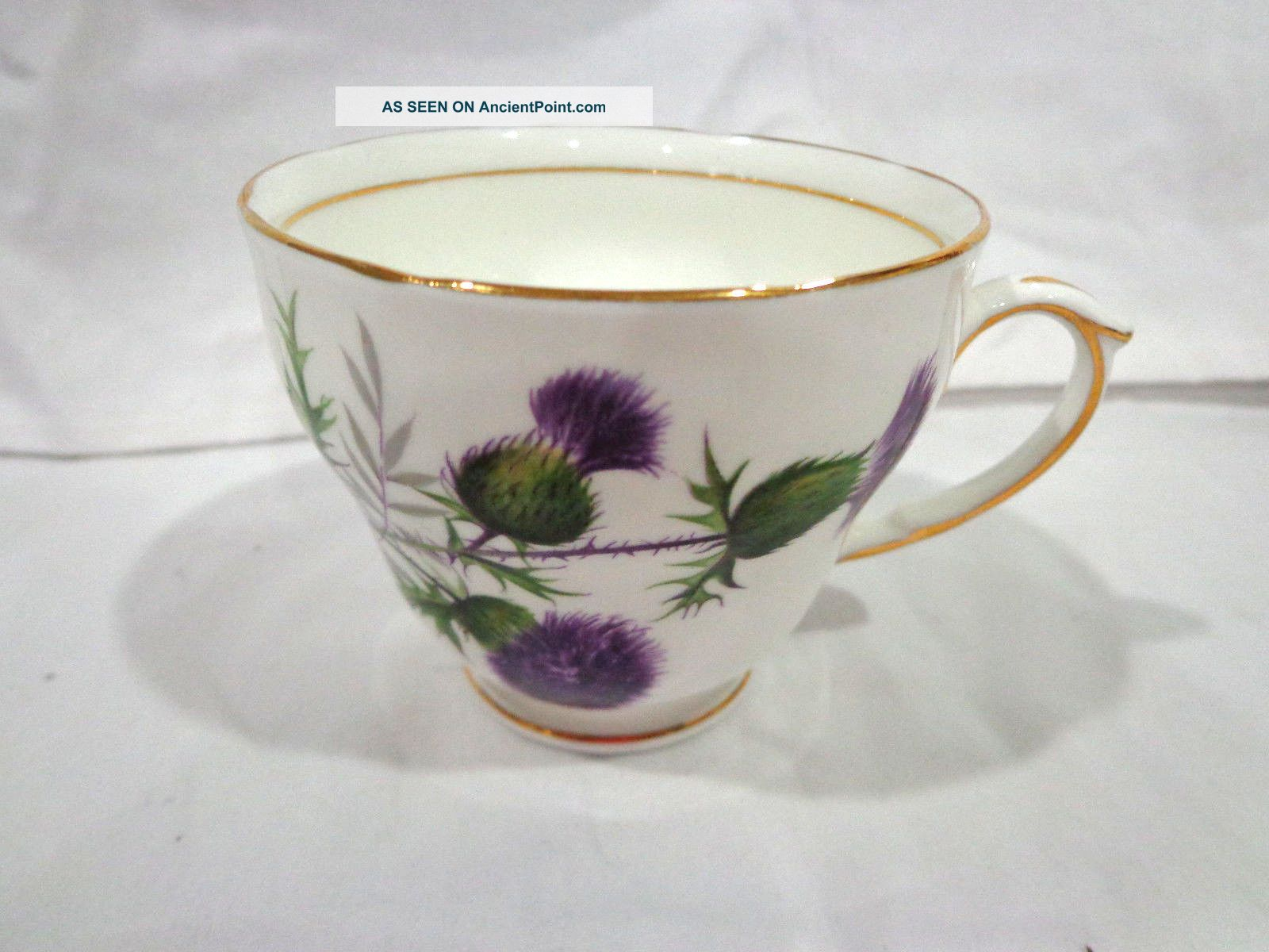 Vintage Duchess Thistle Bone China Tea Cup/england Cups & Saucers photo