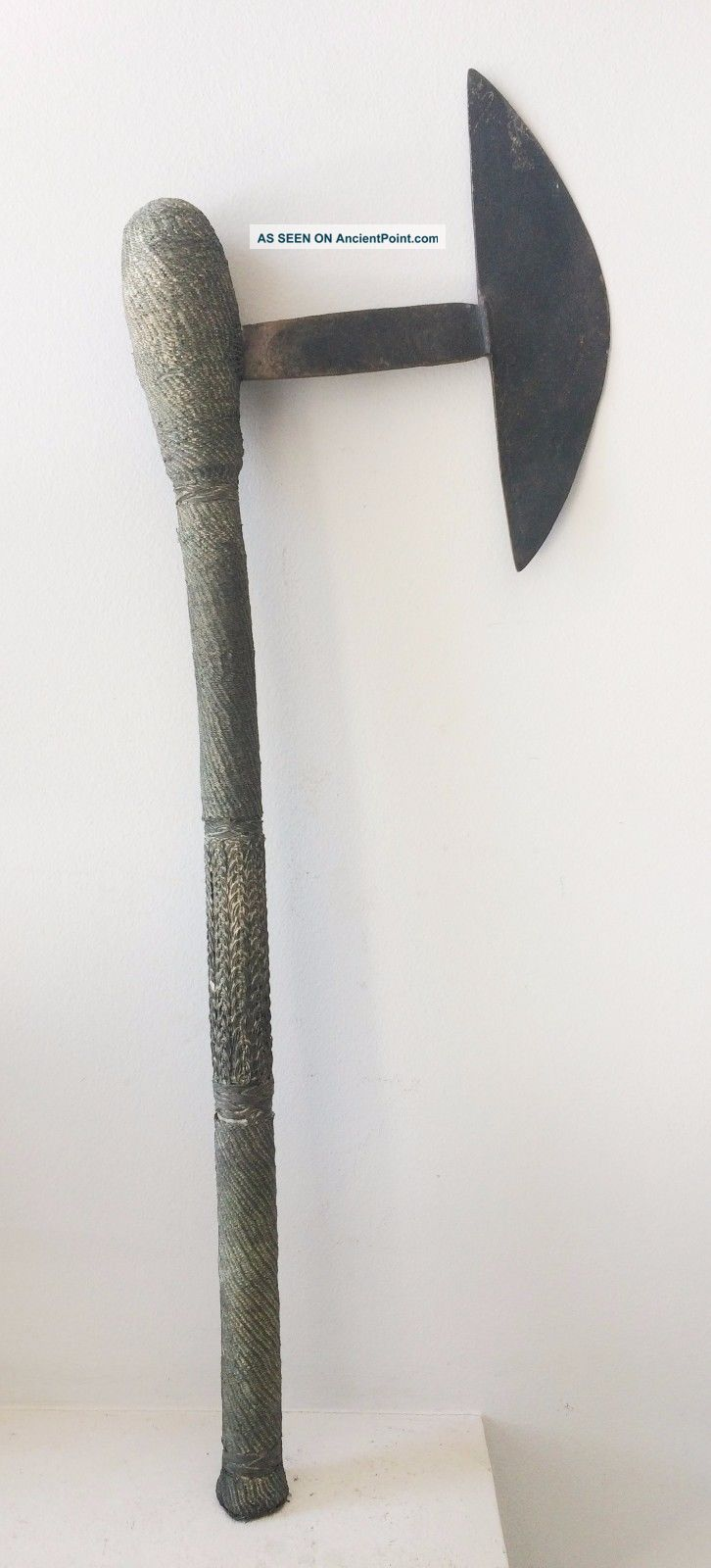 Big Shona Wired Axe From Mozambique - African Ethnic Tribal Zulu Spear Knife Other African Antiques photo