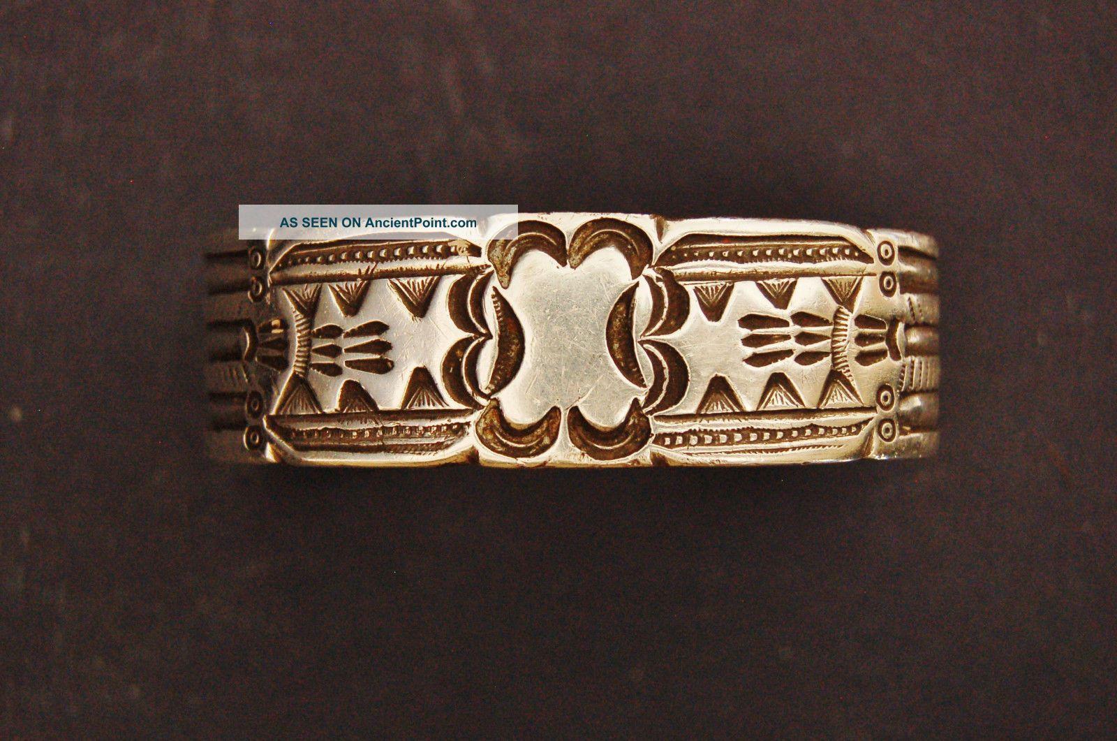 Fantastic Antique Ingot Stamped Braclet Native American photo