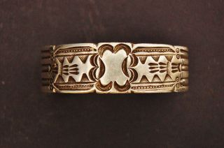 Fantastic Antique Ingot Stamped Braclet photo