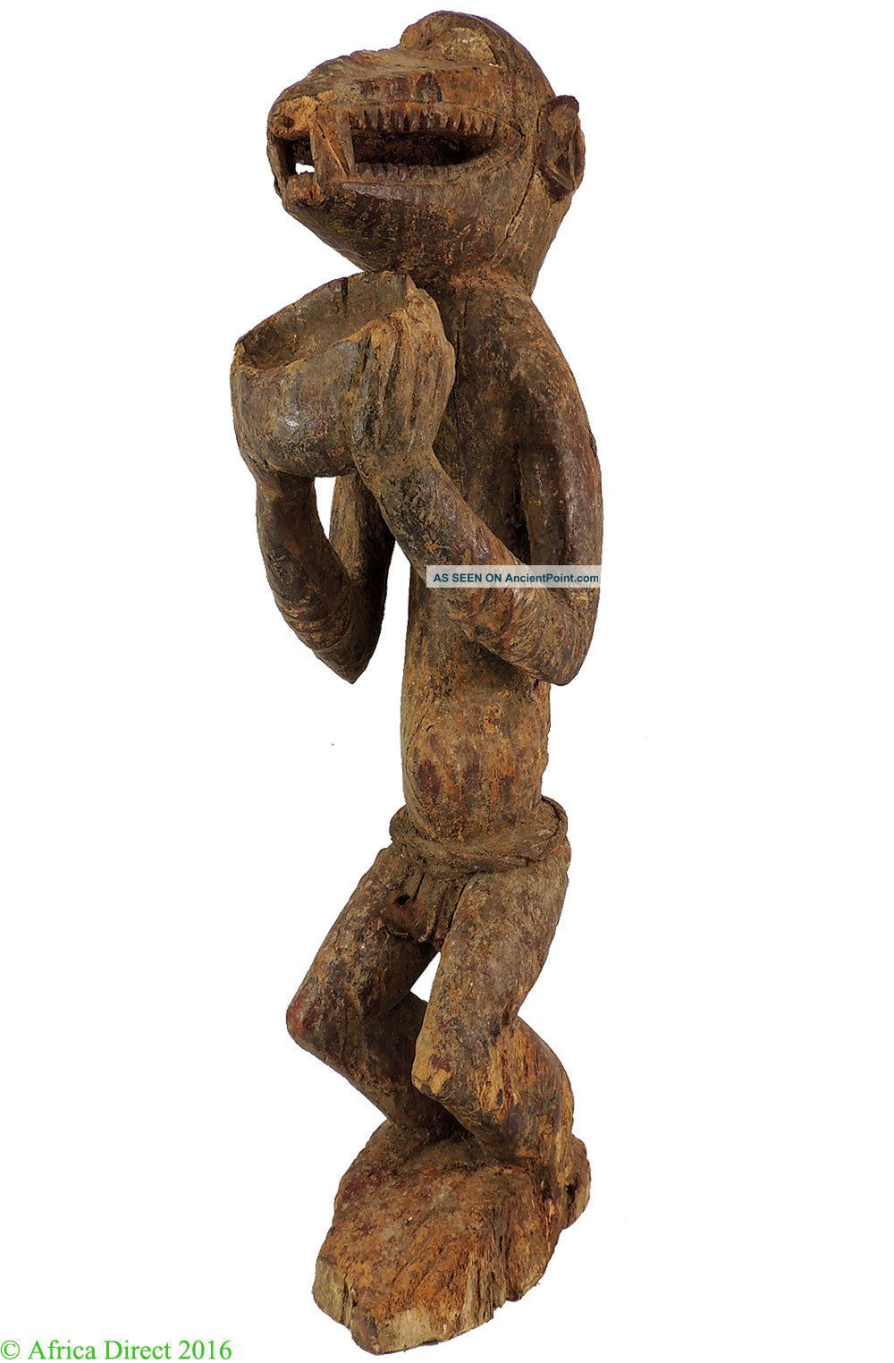 Baule Mbra Monkey Figure Cote D ' Ivoire Africa 31 Inch Was $490 Sculptures & Statues photo