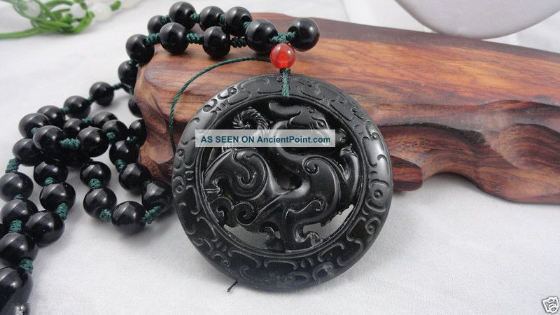 Chinese Jade Hand Carved Dragon Pendant Dragon - Necklace See more Chinese Jade Hand Carved Dragon Pendant Dragon... photo
