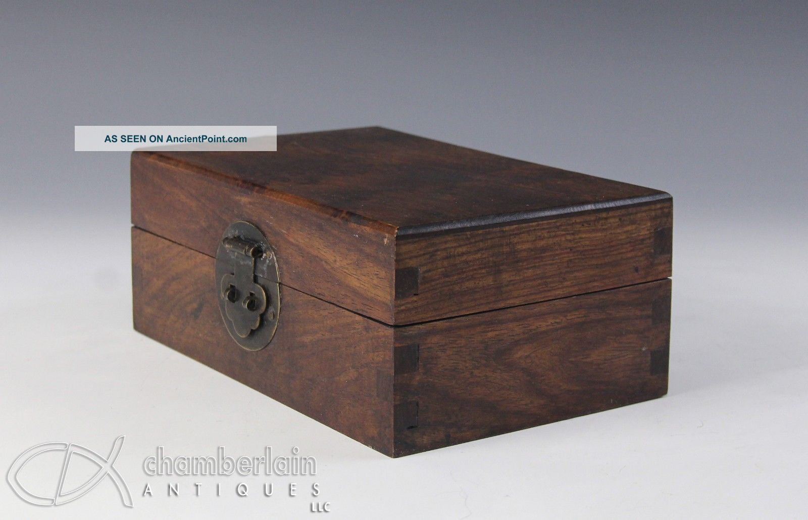 Chinese Hard Wood Covered Box With Graining Boxes photo