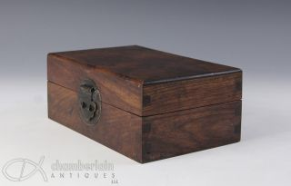 Chinese Hard Wood Covered Box With Graining photo