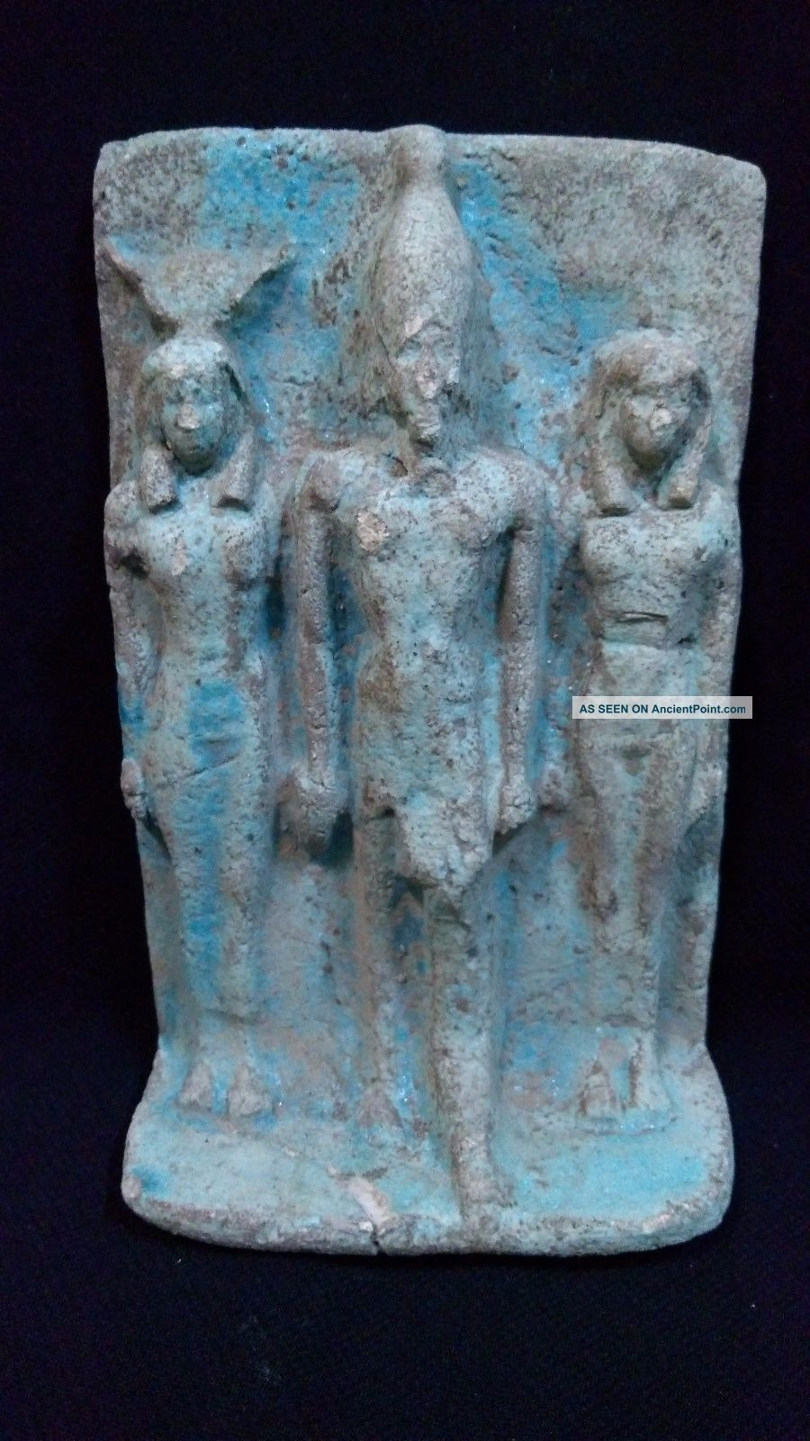 Rare Ancient Egyptian Board Of Osiris And Isis (595 - 525 Bc) Egyptian photo