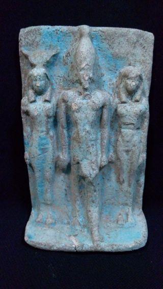 Rare Ancient Egyptian Board Of Osiris And Isis (595 - 525 Bc) photo