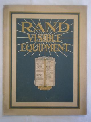 Antique Ncr Rand Visible Rotary Revolving Index Name Card Holder Sales Brochure photo