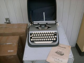 Vintage German Brosette - Export Typewriter 1957 Schreibmaschine,  Instruction photo