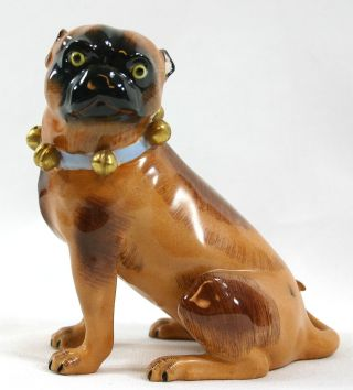 Vintage Dresden Meissen Female Pug Figurine,  Exc.  Cond. photo