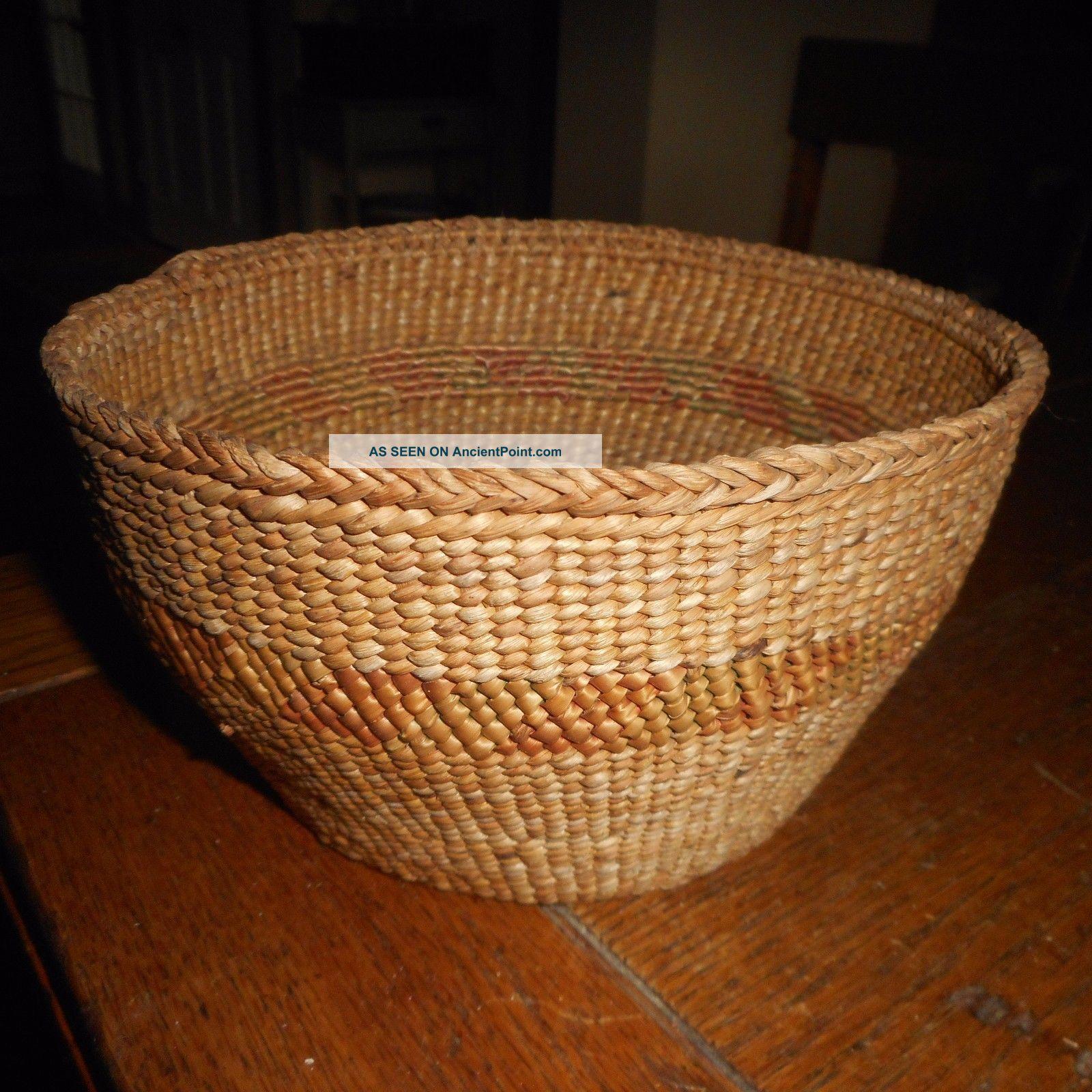 Vintage Native American Quninault Basket 8