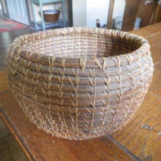 Vintage Native American Shoshone Paiute Coiled Basket 8 1/4