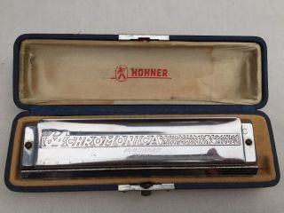 Vintage The 64 Hohner Chromonica 64 Professional Model 280 Harmonica With Case photo