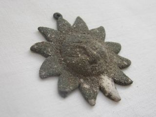 Old Sterling Silver Pendant Found Metal Detecting In The Mediterranean Sea. photo