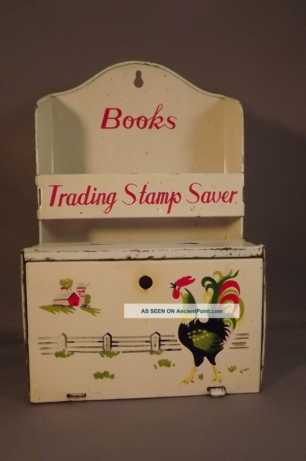 Antique Trading Stamp Tin Other Antique Home & Hearth photo