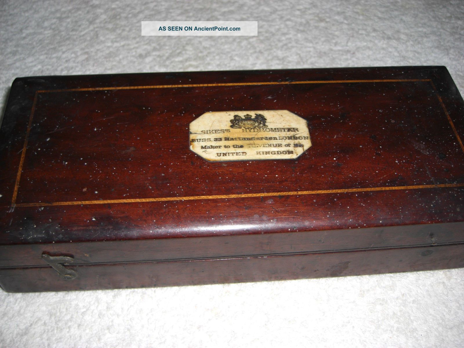 Antique Sikes Hydrometer In Mahogany Box.  C.  1900 ' S.  Hatton Garden Maker. Other Medical Antiques photo
