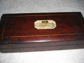 Antique Sikes Hydrometer In Mahogany Box.  C.  1900 ' S.  Hatton Garden Maker. photo