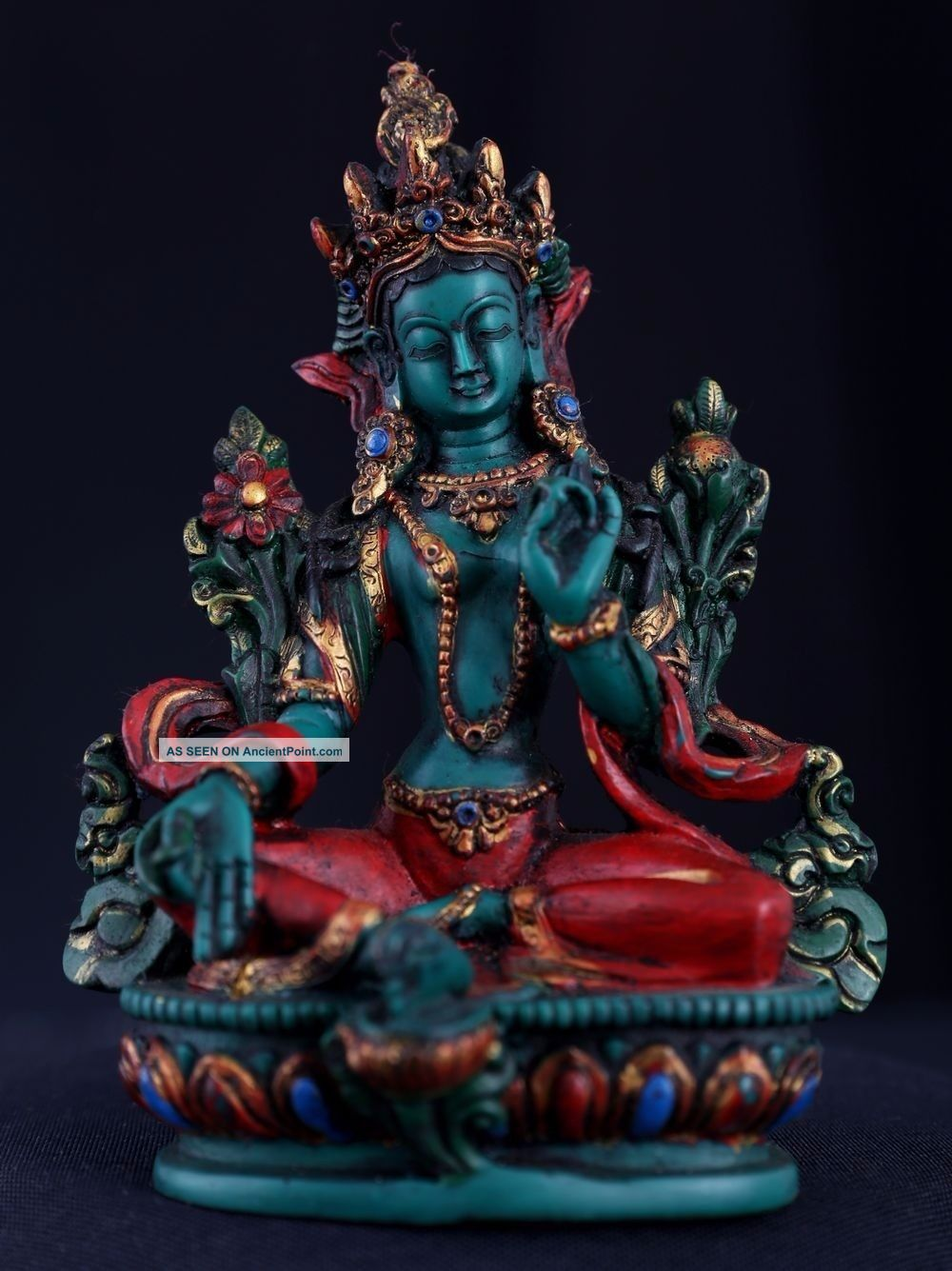 Exquisite Rare Old Chinese Lacquerware Buddha Seated Statue Sculpture Ab050 Figurines & Statues photo