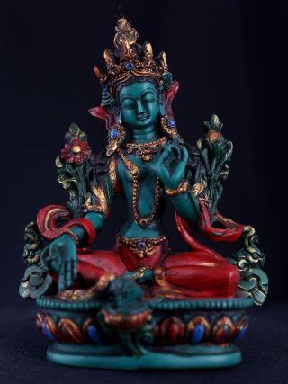 Exquisite Rare Old Chinese Lacquerware Buddha Seated Statue Sculpture Ab050 photo