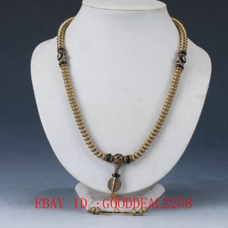 Chinese Old Brass Handwork Decoration Necklaces Xl055 photo