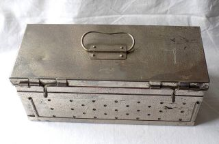 Early 20th Century W.  H Bailey & Son Medical Sterilisation Box.  Ww 1 Field Gear? photo