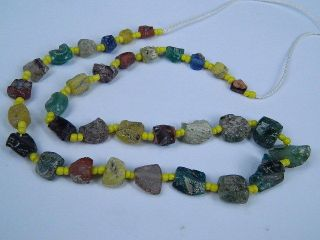 Ancient Fragment Glass Beads Strand Roman 200 Bc Ml1159 photo