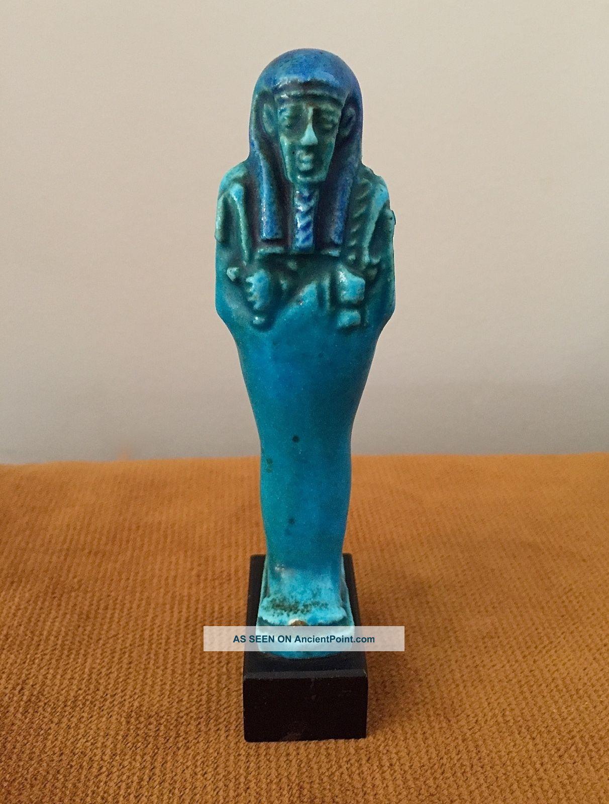 Exquisite Ancient Egyptian Two - Tone Glazed Ushabti Egyptian photo