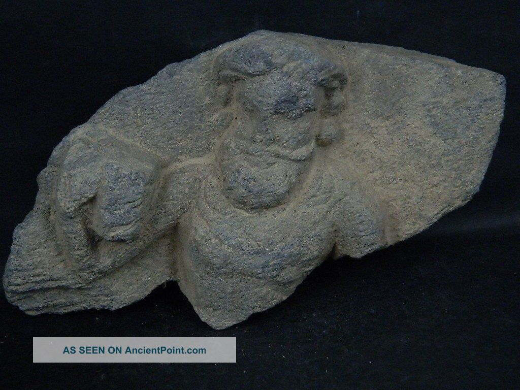 Ancient Stone Bearded Figure Gandhara/gandharan 100 Ad Stn306 Roman photo